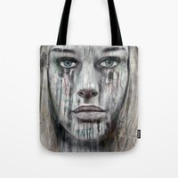 woman Tote Bags featuring woman by teddynash