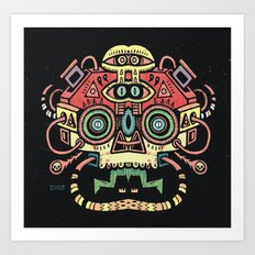 Lanceur de rêves - Alien tribe Art Print