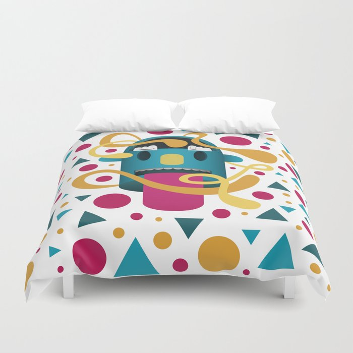 In Your Face Duvet Cover