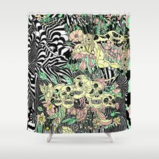 SPRING CYCLE Shower Curtain