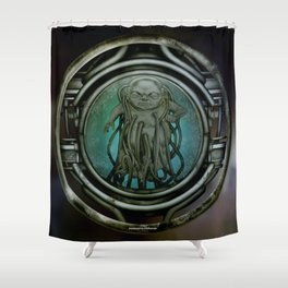 """Astrological Mechanism - Aquarius"" Shower Curtain"