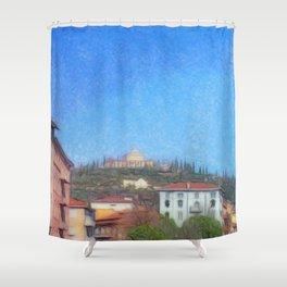 Residence on muntain Shower Curtain