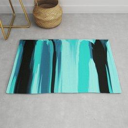 Soft Determination Aquamarine Rug