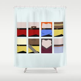 Enterprise 1701 D - Minimalist Star Trek TNG The Next Generation - startrek - Trektangles  Shower Curtain