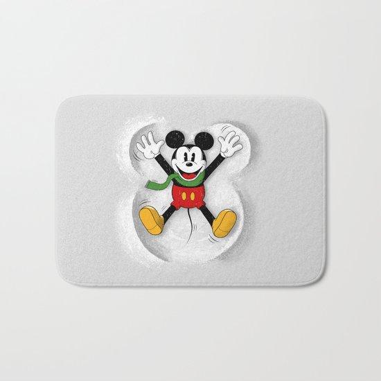 Snow Mickey Bath Mat