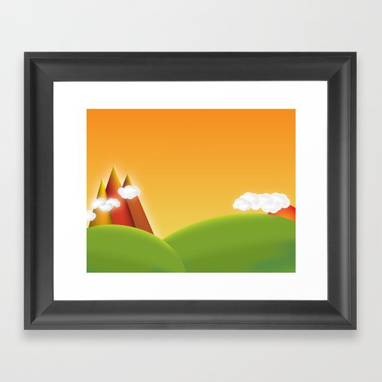 Countryside Revisited Framed Art Print