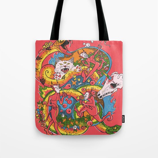 Holiday Imp Tote Bag
