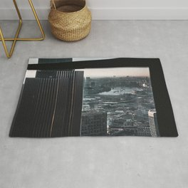 Londen city aerial view Rug