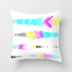 Printer Squares Throw Pillow