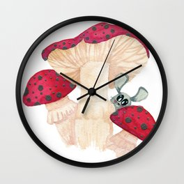 a mouse and his shroom Wall Clock