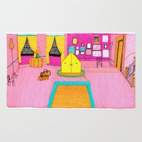 the royal tenenbaums Area & Throw Rugs featuring The Royal Tenenbaums Tent. by Alxndra Cook