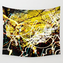 Chaos Tree - Light Painting Wall Tapestry