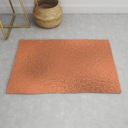 Simply Metallic in Deep Copper Rug