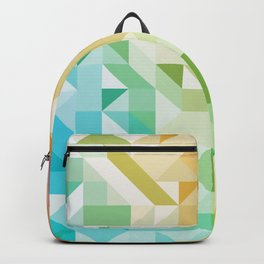 Colorful Geometric Pattern Saturated Rainbow Pattern Design (Red Pink Orange Yellow Green Blue) Backpack