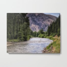 Rock Creek - Montana Metal Print
