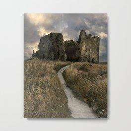 Forgotten castle in Estonia Metal Print