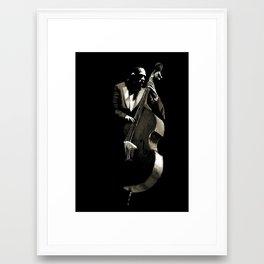 String bass Ron Carter  Framed Art Print