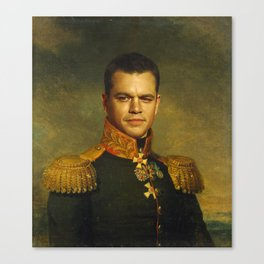 Matt Damon - replaceface Canvas Print