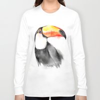toucan Long Sleeve T-shirts featuring Toucan by akaori_art