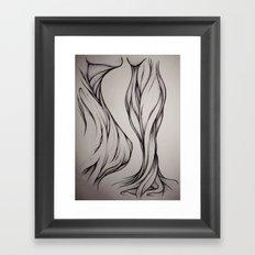 Hidden Curve Framed Art Print