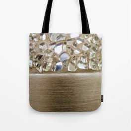 Gold Iridescence and Mirrors Tote Bag