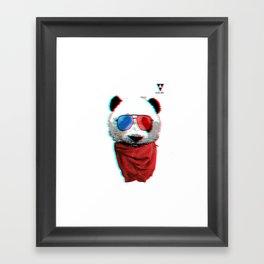 3D Panda Framed Art Print