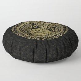 Golden  Star of Lakshmi - Ashthalakshmi  Sri Floor Pillow