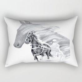 Trotting Up A Storm Rectangular Pillow