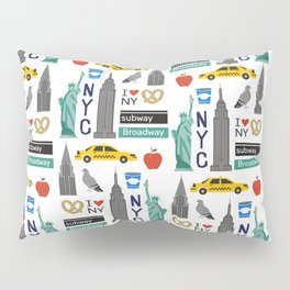 NYC travel pattern fun kids decor boys and girls nursery new york city theme Pillow Sham