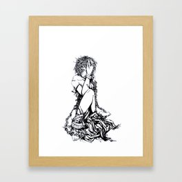 No Pain but Insanity Framed Art Print