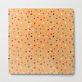 Modern geometrical colorful abstract polka dots Metal Print