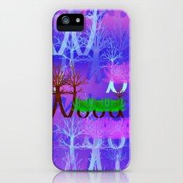 W - pattern wood 2 iPhone Case