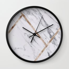 Rose Golden classic marble Wall Clock