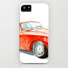 Red retro car iPhone Case
