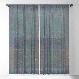 Unknown planet. Sheer Curtain