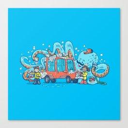 Octopus Carwash Canvas Print