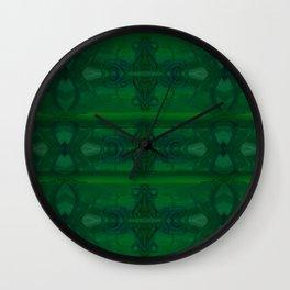 Patterns II Green Wall Clock