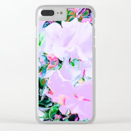 SWEETPEA WHITE/MULTI Clear iPhone Case