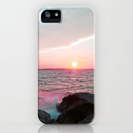 Pink and Blue Sunset Over Newport Rhode Island iPhone Case