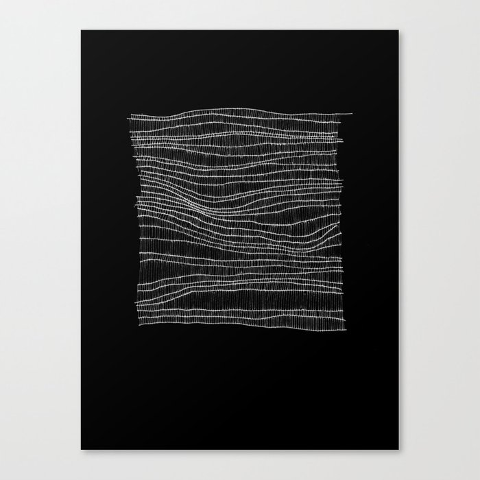 white on black Canvas Print