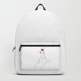 Korean Finger Heart Backpack