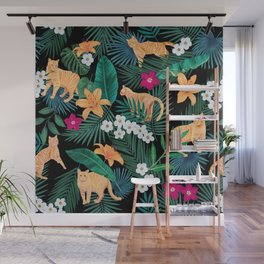 Ginger Cats in the Jungle Wall Mural