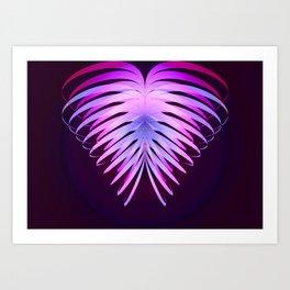 Ribbon Heart print Art Print
