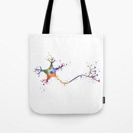 Neuron Art Brain Cell Biology Art Watercolor Neurology Medical Science Art Biology Gift Tote Bag