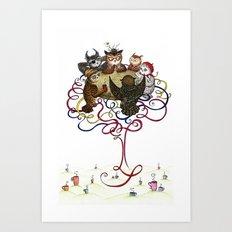 Art School Owl Assembly Art Print