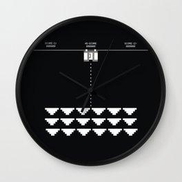 Briefs Invaders Wall Clock