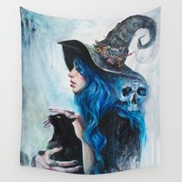 valentine Wall Tapestries featuring Blue Valentine by Tanya Shatseva