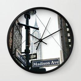 Madison Ave Wall Clock