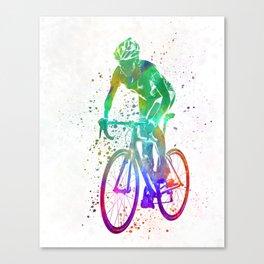 Woman triathlon cycling 05 Canvas Print