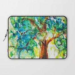 Gold Heart Tree Watercolor by CheyAnne Sexton Laptop Sleeve